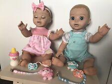 Luvabella & luvabeau Interactivo Bebé Muñeca, accesorios y el clip ficticio Muñecas Gemelas