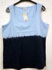 Mehrfarbige Lockre Sitzende Ärmellose Damenblusen,-Tops & -Shirts mit Baumwolle