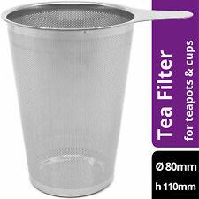 amapodo Teefilter für losen Tee Plastikfrei Edelstahl Siebeinsatz groß