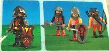 Playmobil 7769 , 7770 Dragon Knights Leader & 3 Dragon Knights - NEW