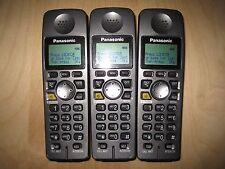Lot of 3 Panasonic Kx-Tga600B 5.8 Ghz Cordless Expansion Handset Phone