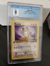 Meowth 1st Edition Jungle Mint 9 CGC Pokemon #56
