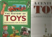 HISTORY OF TOYS by Jaffe 2006 Hc A CENTURY OF TOYS by London Toy Museum 2 BOOKS