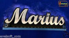 """LED LKW Truck Leuchtschild """"Marius"""" Ihr Wunschname 12 o. 24V warmweiß ©faunz"""