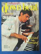 DOWN BEAT MAGAZINE JANUARY 1986 CHICK COREA DIZZY GILLESPIE THIRD WORLD R QUINE