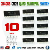 10PCS CD4066BE CD4066 CMOS QUAD BILATERAL SWITCH Dip-14 IC