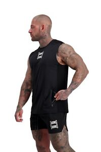 ADONIS.GEAR- AG39 UTLITY POCKET BLACK MUSCLE TANK, TANK, GYM, SINGLET, TANK TOP