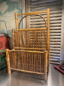 Vintage Tiger Cane Magazine Home Tidy Unit
