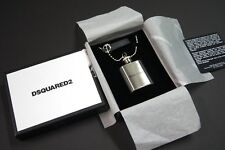 DSQUARED² Men Unisex Silver Flask Ball Chain Necklace NEW NIB