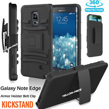 For Samsung Galaxy Note Edge Belt Clip Holster Armor Case Free with Kickstand