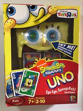 UNO SpongeBob SquarePants Card Game ~ Toys R Us Exclusive ~ Spinning Eyes