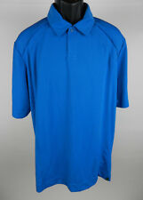 North End Sport Mens Polo Shirt L Blue SS Performance Recycled Polyester New