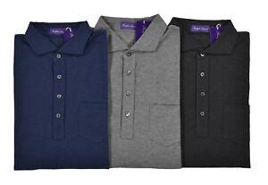 Ralph Lauren Purple Label Cotton Pocket Polo Shirt New $295