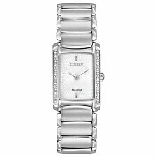 Citizen Eco-Drive Women's EG2960-57A Euphoria Diamond Accents Silver Tone Watch