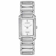 Citizen Eco-Drive Women's EG2960-57A Euphoria Diamond Accents Silver Tone Watch