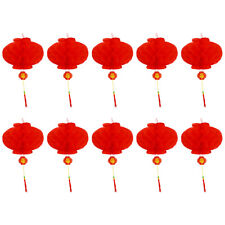 1pc Chinese Red Plastic Lantern Traditional Wedding Festival Wall Hanging Decor