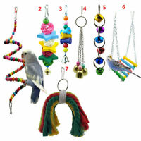 7 Pack Beaks Metal Rope Small Parrot Toy Budgie Cockatiel Cage Bird Toys Funuy