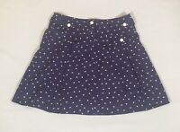 Monsoon Fusion Navy Blue 100% Cotton Flare Skater Style Short Mini Skirt 8/10