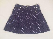 Monsoon Fusion Navy Blue 100% Cotton Flare Skater Style Short Mini Skirt 8/10