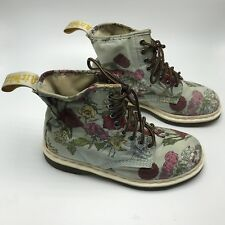 Doc Martens Floral  Cashlin size 8 women's Air Wair Combat Motorcycle Boots