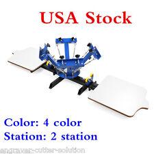 USA 4 Color 2 Station Silk Screen Printing Machine 4-2 Press DIY T-Shirt Printer