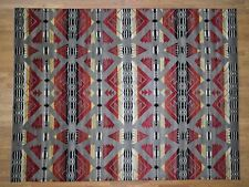 "8'10""x11'7"" Hand-Knotted Pure Wool Southwestern Design Oriental Rug R40801"