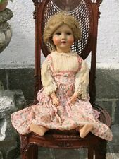 ANTICA BAMBOLA ANTIQUE GERMAN 302 DOLL PORCELLANA E CARTAPESTA FINE '800