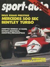 SPORT AUTO n°246 07/1982 GP USA CANADA 24h du MANS INDY AVEC ENCART & POSTER