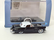 1:87 Ford '56 Thunderbird - Black #56006 - Oxford Diecast Ltd. -NEW w/case