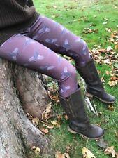 Ladies Hunting Leggings Shoot Day Range Pheasant Pattern Brown Brand New Size 14