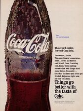 "1968 Coca Cola ""The Crowd Cooler: Ice Cold Coca Cola"" Hockey Vintage Print Ad"