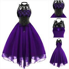 New Purple Gothic Lace & Chiffon Corset Waist Ball Gown Dress size 2XL 20 22 24