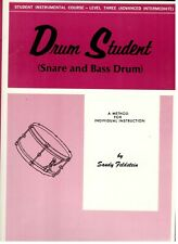 Student Instrumental Course Level 3 Drum Student Music Book Snare & Bass New