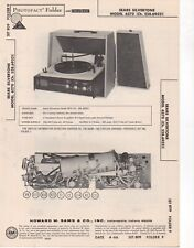 1966 SERAS SILVERTONE 6270 RECORD PLAYER CHANGER AMP SERVICE MANUAL SCHEMATIC