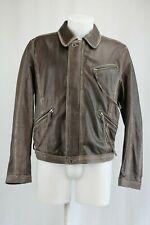 Ermanno Scervino Brown Leather Jacket, Size: 40 UK / 40 EU