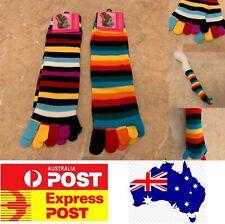 Novelty Girls Women's Rainbow Toe socks knee high party costume dress AU stock