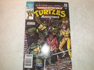 Teenage Mutant Ninja Turtles Adventures #1 KEY ISSUE! 1st Krang, Bebop, Rockstdy