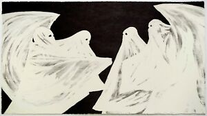 Marcel Dzama: Scared of His Own Ghost, 2008. Signed, Numbered, Fine Art Print.