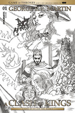 GAME OF THRONES CLASH OF KINGS #1 B&W MILLER VARIANT GEORGE R.R. MARTIN COMICS