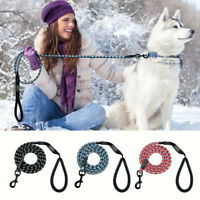 Nylon Rope Reflective Braided Dog Leash Strong Pet Long Leads for Dog Walking