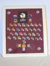 2002 SOCCER / FOOTBALL WORLD CUP JAPAN BIG COLLECTION PIN FRAMES and more