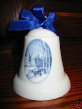 Hallmark Ceramic Bell 10th Anniversary Deer in Snow 84