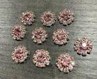 5Pcs 12mm Round Diamante Rhinestone Flatback Bling Embellishment Jewellery Makin