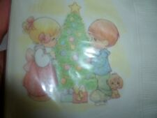 Hallmark Precious Moments Christmas Napkins 16 Count Pkg. 1993 5 Inch Size