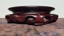 Vintage Chinese Carved Hardwood Stand For Bowl,Vase 6 1/2""