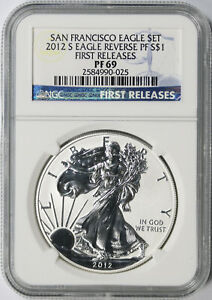 2012-S $1 Reverse Proof American Silver Eagle NGC PF69 First Releases