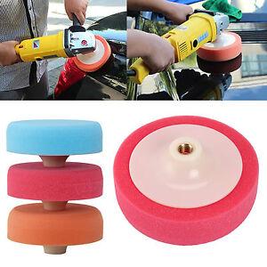 3 X Polishing Sponge Heads 150MM Car Buffing Valeting Soft Mop Pads M14 Thread