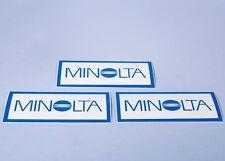 3x Job Lot of Minolta Camera Vinyl 115mm x 50mm Dealer Stickers * New