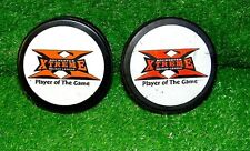 ROCHESTER EXTREME HOCKEY PUCKS LOT OF 2