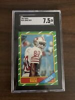 1986 Topps Football #161 Jerry Rice ROOKIE SGC 7.5 NM+